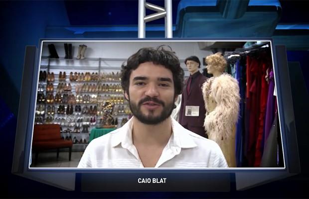 O ator Caio Blat gravou uma homenagem especial para a TV Grande Rio (Foto: Reprodução/TV Grande Rio)