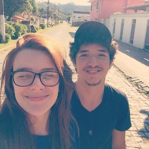 João Vitor Silva e Mariana Molina (Foto: Reprodução )