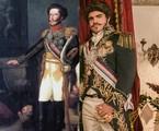 Caio Castro é Dom Pedro I em 'Novo mundo' | Divulgação e Raquel Cunha/ TV Globo