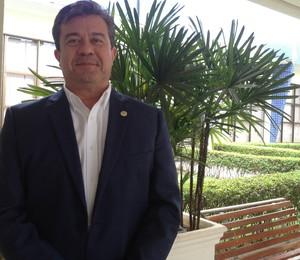 Secretários dos Jogos Mundiais Indígenas, Hector Franco (Foto: Vilma Nascimento/GloboEsporte.com)
