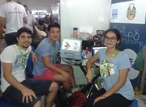 Equipe da startup Marmotex (Foto: Isabela Moreira)