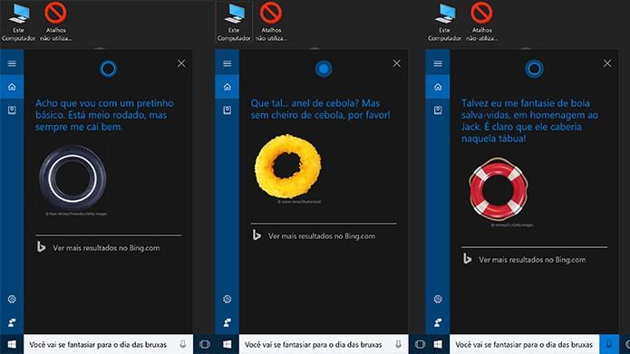 Cortana para Windows 10 revela como pretende ir fantasiada ao Halloween (Foto: Reprodução/Elson de Souza)