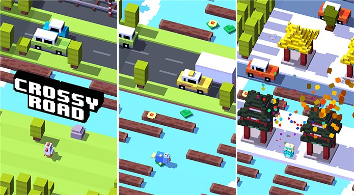 Crossy Road é um viciante game com gráficos 8 bits para Windows Phone (Foto: Divulgação/Windows Phone Store)