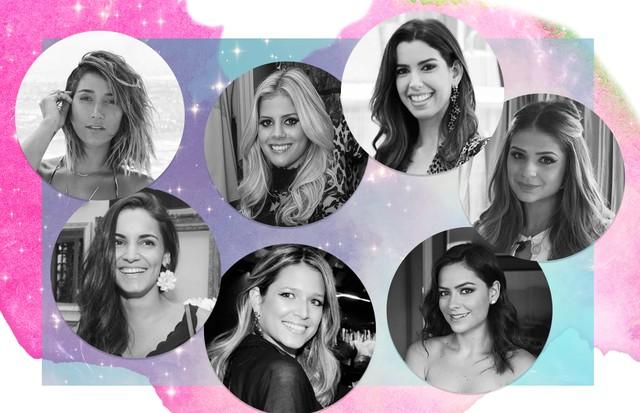 Luciana Tranchesi, Thassia Naves; Lala Rudge, Helena Bordon,, Camila Coutinho, Renata Vanzetto e Gabriela Pugliesi (Foto: Reprodução/Vogue Brasil)