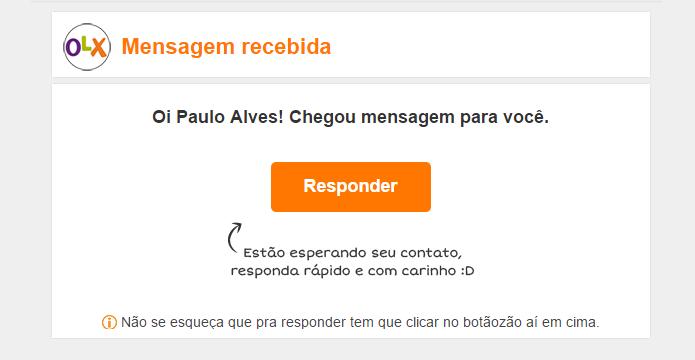 Só clique em links de e-mails enviados pela OLX (Foto: Reprodução/Paulo Alves)