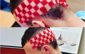 BLOG: Perisic pinta as cores da Croácia na cabeça antes de duelo contra Portugal