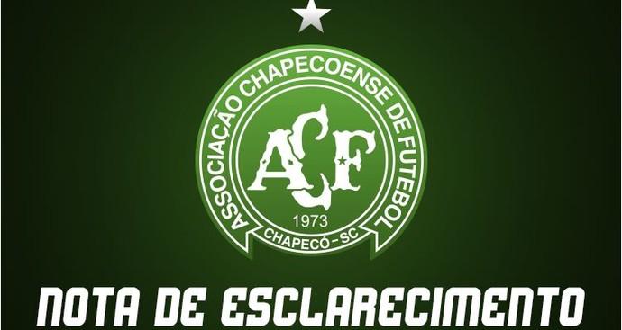 Chapecoense nota oficial (Foto: reprodução)