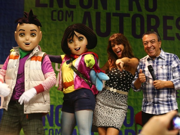 Mauricio de Souza e Thalita Rebouças (Foto: Rodrigo Gorosito/G1)
