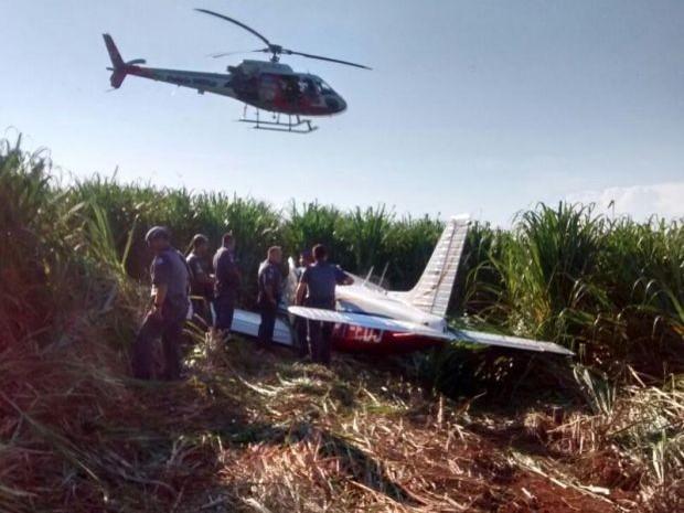 [Brasil] Polícia apreende avião em canavial com produtos contrabandeados Policia_militar_2