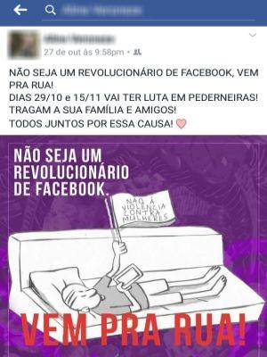 Protestos foram programados na cidade após repercussão do caso (Foto: reprodução/Facebook)