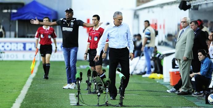 Serginho Chulapa e Tite Santos x Corinthians (Foto: Marcos Ribolli)