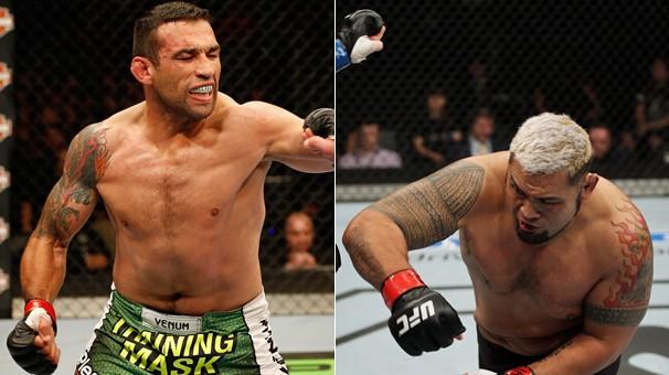 Disputada pela primeira vez na Cidade do México, a luta entre o brasileiro Fabricio Werdum e o neozelandês Mark Hunt vale o cinturão interino da categoria peso-pesado do UFC (Foto: Getty Images)