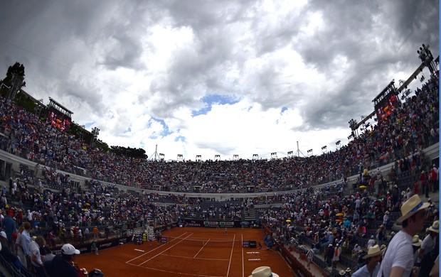 Victoria Azarenka tênis contra Sara Errani chuva Roma (Foto: AFP)