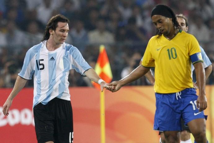 Ronaldinho olimpiadas 2008 (Foto: AP)