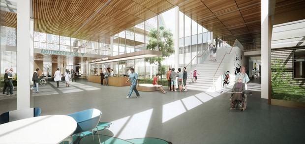 Vencedor na categoria Antigo e Novo foi o projeto para o hospital Bispebjerg, na Dinamarca, criado pelo escritório CF Moller (Foto: AR MIPIM Future Projects Awards)