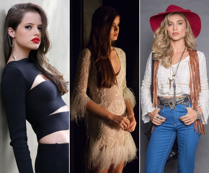 As modelos Giovanna, Angel e Larissa (Foto: Ellen Soares / Felipe Monteiro Gshow)