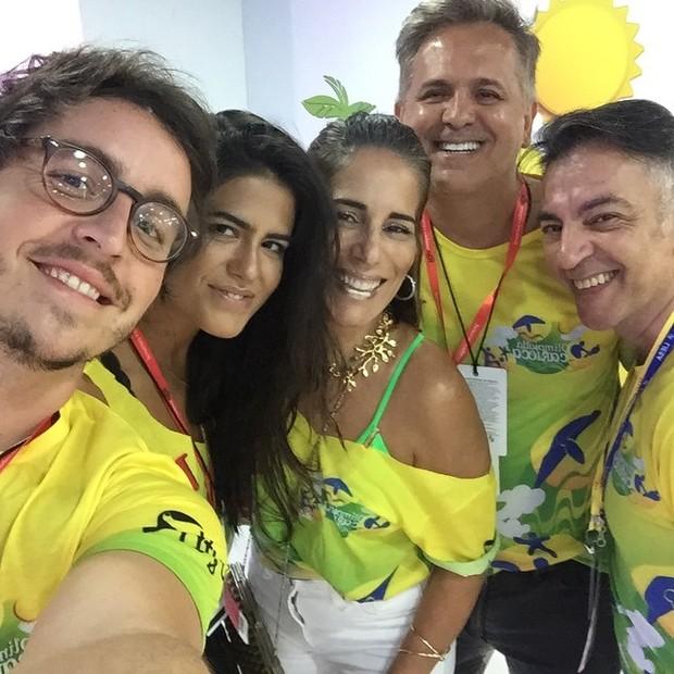 Wagner Santisteban, Antonia Morais, Glória Pires, Orlando Morais e um amigo (Foto: Reprodução / Instagram)