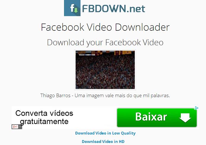 Escolha o download em SD ou HD (Foto: Thiago Barros/TechTudo)
