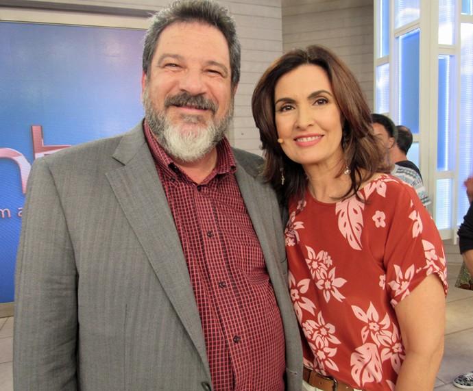Mario Sergio Cortella e Fátima (Foto: Priscilla Massena/Gshow)