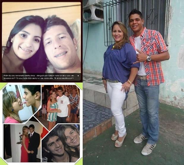 Montagem dia dos namorados jogadores paraenses - Fábio Sanches, Andrey Coutinho e Hallyson (Foto: Reprodução/Redes sociais)