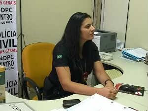 Delegada Ione Barbosa Polícia Civil Juiz de Fora (Foto: Roberta Oliveira/G1)
