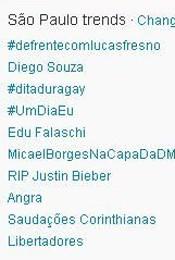 Trending Topics em SP às 12h11 (Foto: Reprodução)