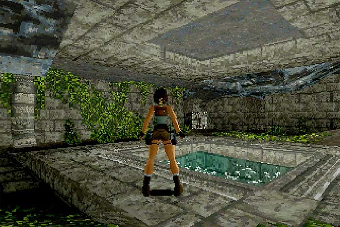 O primeiro Tomb Raider (Foto: Divulgação/Eidos)