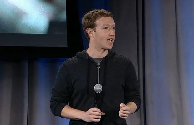 Mark Zuckerberg durante apresentação do Facebook Home (Foto: Reprodução/Facebook)