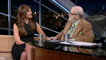 Jô Soares entrevista a repórter Andreia Sadi
