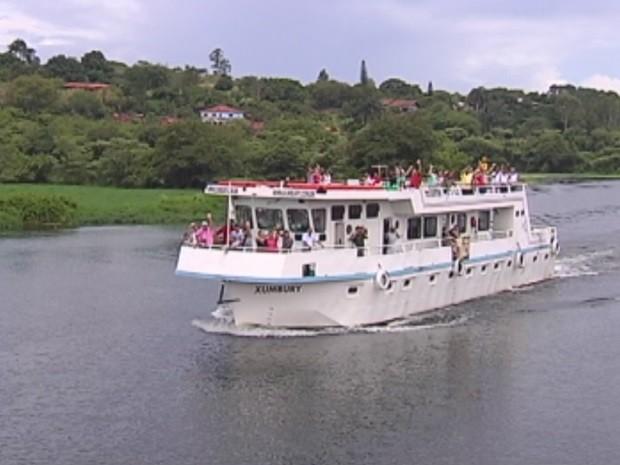 Turismo é explorado em Barra Bonita (Foto: Reprodução/TV TEM)