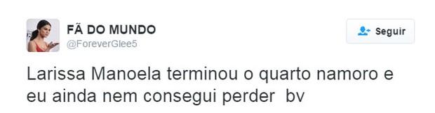 Internautas repercutem término de Larissa Manoela e João Guilherme (Foto: Twitter / Reprodução)