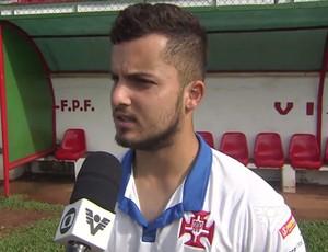 Jean Chera, Portuguesa Santista  (Foto: Reprodução / TV Tribuna)