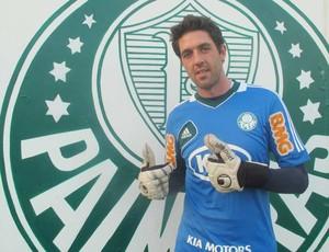 Bruno, goleiro do Palmeiras bruno palmeiras (Foto: Diego Ribeiro / Globoesporte.com)