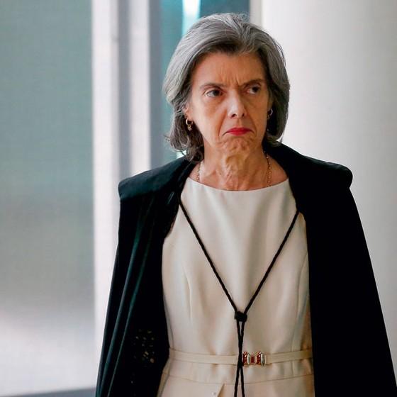 A presidente do Supremo,ministra Carmen Lúcia.Ela não embarcou na encenação de crise (Foto: Ladeira/Folhapress)
