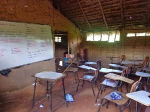 Escola existe há 14 anos na comunidade Sambaíba (Foto: Flaviane Tajra/Arquivo Pessoal)