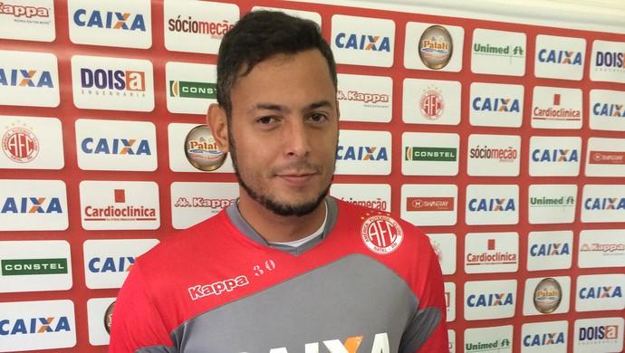 Fernando Henrique - goleiro do América-RN (Foto: Jocaff Souza/GloboEsporte.com)