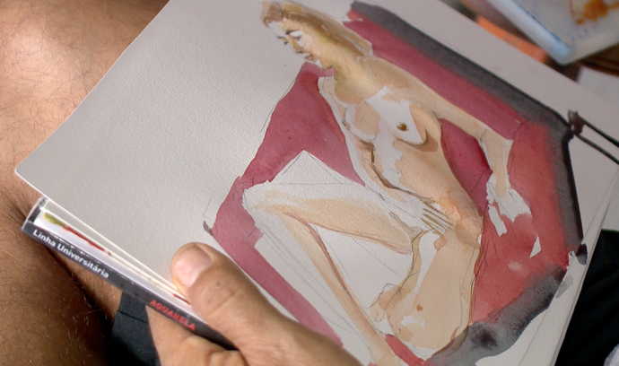 A nudez na arte é um dos temas da série NUDES (Foto: Divulgação/ TV Gazeta ES)