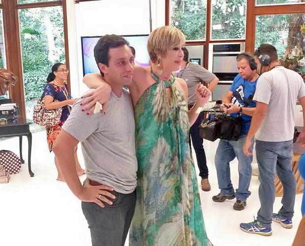 Thomaz esteve no Mais Você, comandado pela mãe e por André Marques (Foto: Ivo Madoglio)