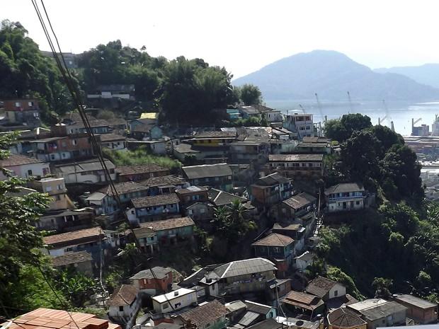 Morro do Pacheco, Santos, SP (Foto: Ivair Vieira Jr/G1)
