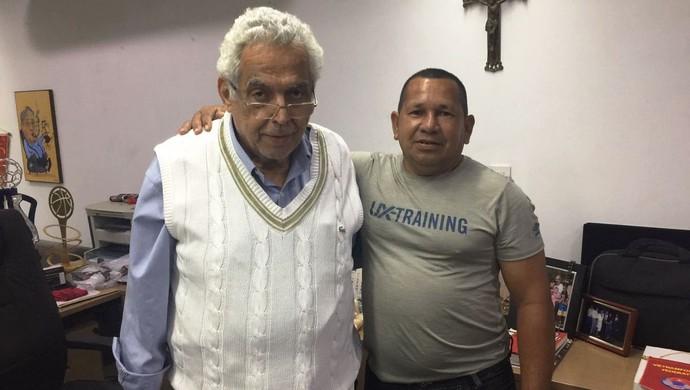 Eurico Miranda, presidente do Vasco, e Renato Machado, presidente do Vasco-AC (Foto: Alberto Casas/Arquivo Pessoal)