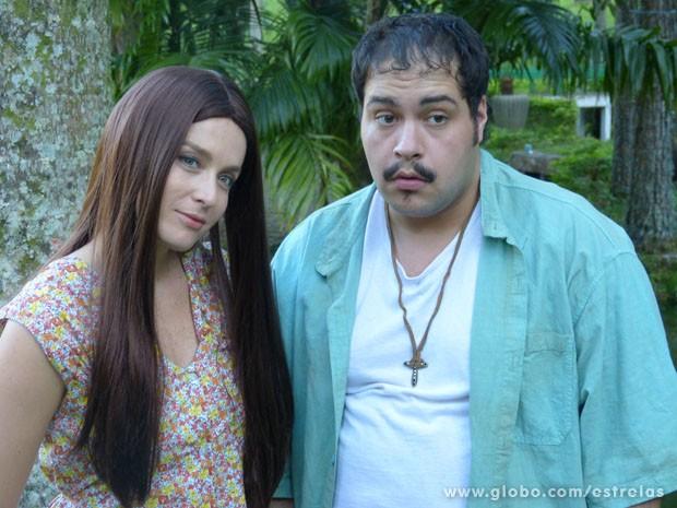 Angélica e Thiago Abravaenl de Ruthinha e Tonho (Foto: TV Globo/Estrelas)