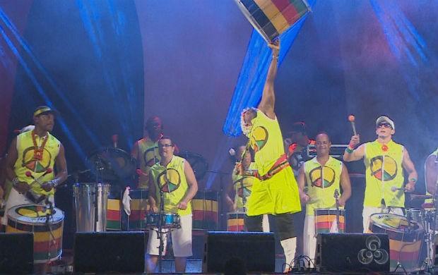 Apresentação da banda Olodum (Foto: Reprodução/TV Amapá)