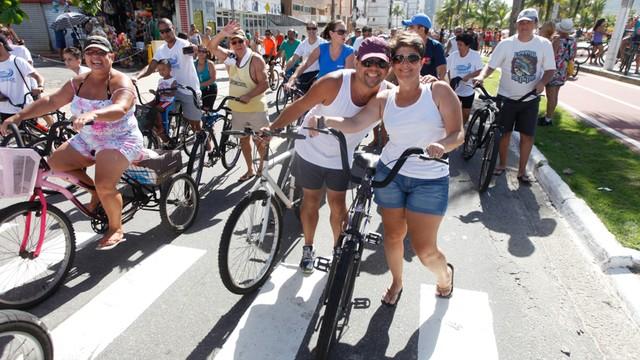 1º Passeio Ciclístico de Praia Grande (Foto: José Luiz Borges)