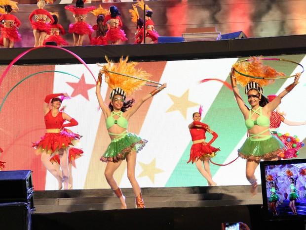 Corpos de dança da Secretaria de Estado de Cultura (SEC) participaram de evento (Foto: Jamile Alves/G1 AM)