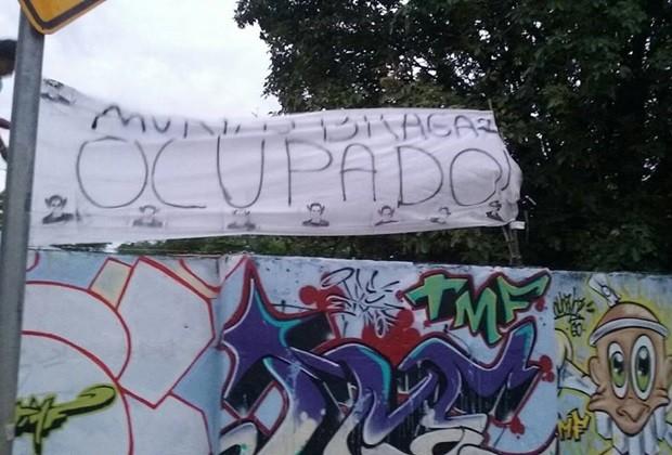 Colégio Estadual Murilo Braga foi ocupado por estudantes, em Goiânia, Goiás (Foto: Divulgação)