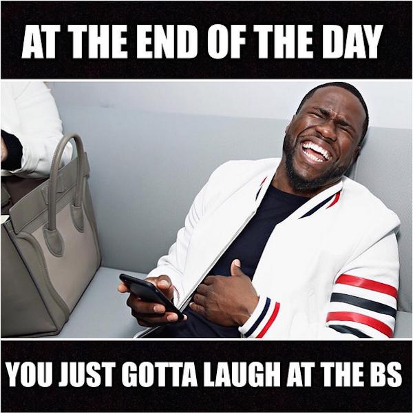 O meme compartilhado por Kevin Hart fazendo piada com o boato de que teria traído a esposa (Foto: Instagram)