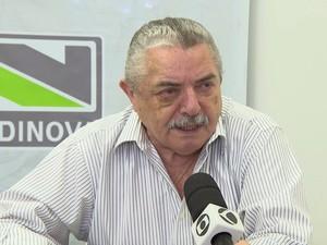 Pedro Gomes, presidente do Sindinova (Foto: TV Integração/Reprodução)