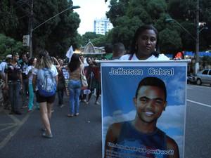 Ato 1 ano da chacina em Belém (Foto: Alexandre Yuri/ G1)