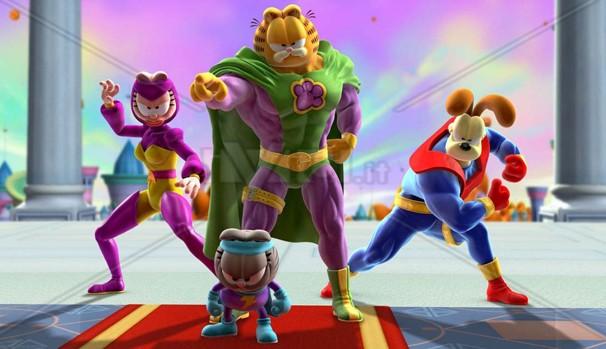 Garfield ganha músculos para deter um poderoso vilão (Foto: Divulgação/Reprodução)