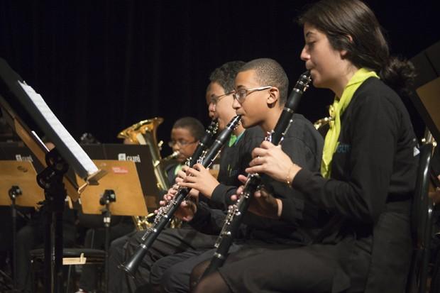 A Banda Sinfônica Infanto-juvenil do Guri se apresenta no sábado e no domingo (Foto: Roberta Borges)